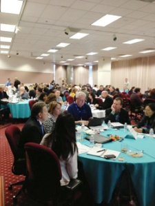 At round table discussions, REALTORS® shared their thoughts about the future. (Photo courtesy of MLSListings Inc.)