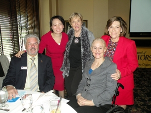 2015 WCR Santa Clara Valley President Mimi Wang (second from left) is pictured here with SILVAR Past President David Tonna, Treasurer Phyllis Carmichael, President-elect Karen Trolan and Region 9 Chair Carolyn Miller.