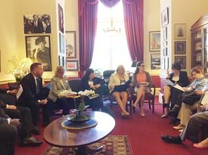REALTORS® meet with Congresswoman Anna Eshoo.