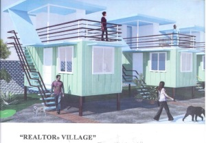 This is a rendering of the REALTOR® Village to be built in the Philippines. NAR provided seed money to help construct containerized housing in the town of Bogo, Cebu in the Philippines.
