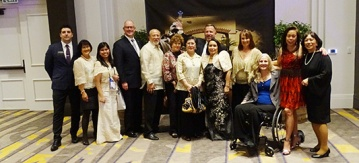 SILVAR leadership with CREBA members and NAR manager of Global Business Development and Outreach Joe Schneider and NAR President's Liaison to the Philippines Jennifer Tasto (both far left) celebrate their awards.